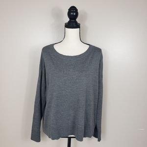 EILEEN FISHER Gray Merino Wool Lofty Sweater